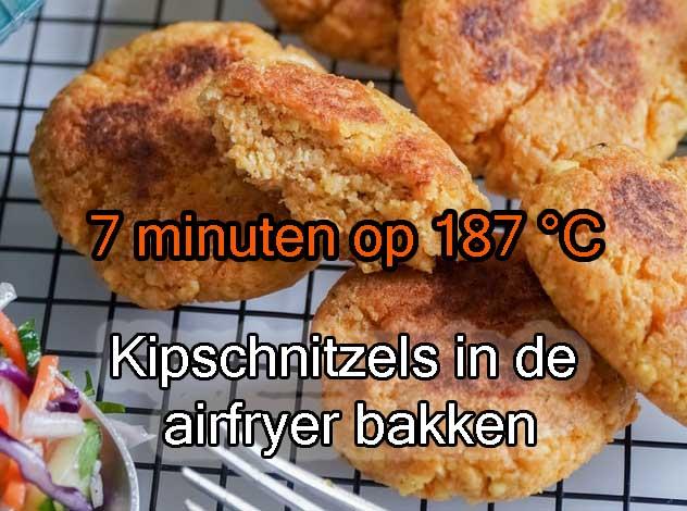 Kipschnitzels-in-de-airfryer-bakken