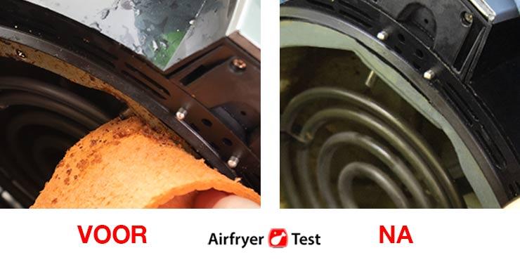 verwarmingselement airfryer schoonmaken
